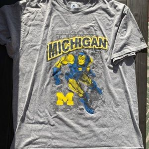 Marvel Ironman Michigan Graphic Tee Grey Size XL